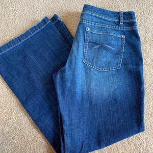 White House Back Market 14S Blue Jeans Flare Leg